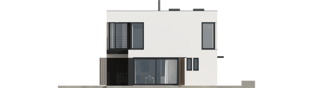 Projekt domu EX 2 soft - elewacja lewa