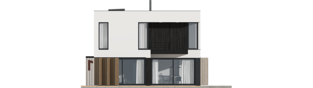 Projekt domu EX 2 soft - elewacja tylna