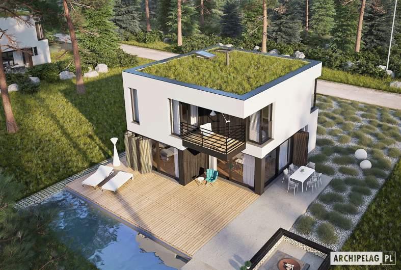 Projekt domu EX 2 soft - widok z góry