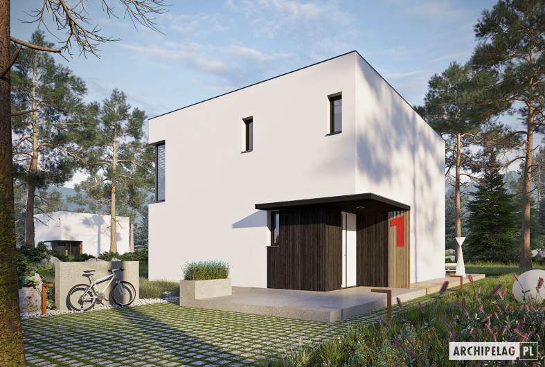 Projekt domu EX 2 soft - wizualizacja frontowa
