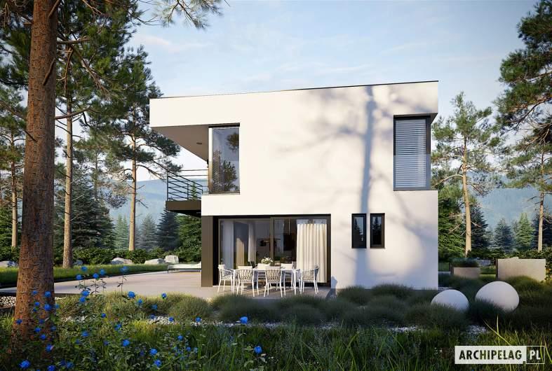Projekt domu EX 2 soft - wizualizacja ogrodowa