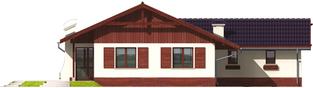 Projekt domu Romina G1 - elewacja tylna