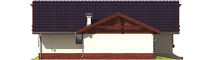 Projekt domu Romina G1 - elewacja lewa