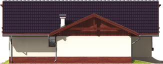 Romina G1 - Projekt domu Romina G1 - elewacja lewa