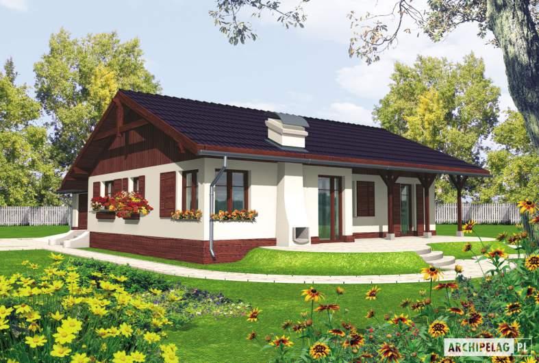 Projekt domu Romina G1 - wizualizacja ogrodowa