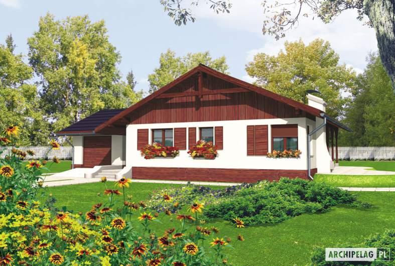 Projekt domu Romina G1 - wizualizacja frontowa