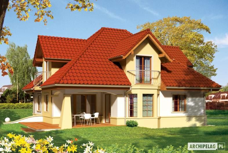 Projekt domu Henry G2 - wizualizacja ogrodowa