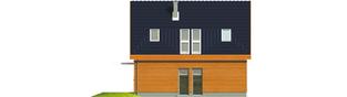 Projekt domu Fabrycja G2 - elewacja lewa