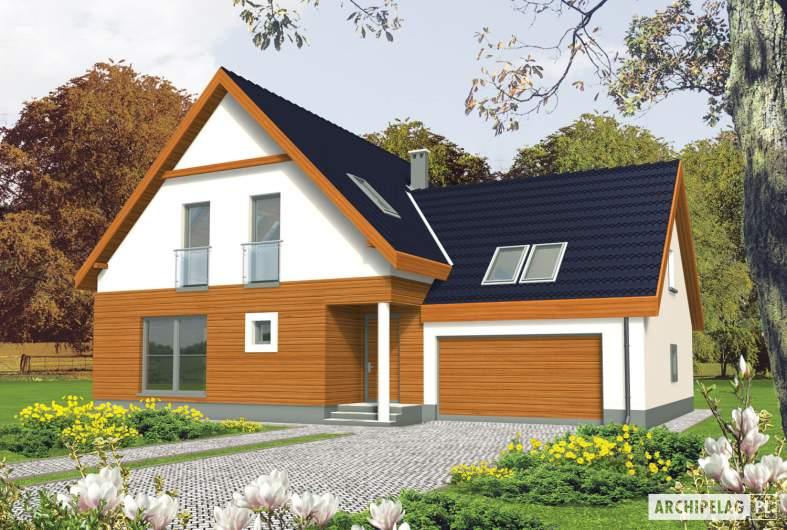 Projekt domu Fabrycja G2 - wizualizacja frontowa