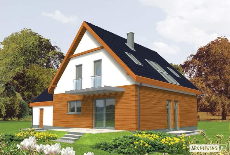 Projekt domu Fabrycja G2 - wizualizacja ogrodowa