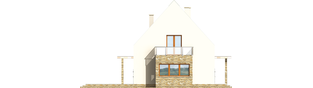 Projekt domu Gerda - elewacja tylna