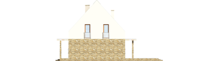 Projekt domu Gerda - elewacja prawa