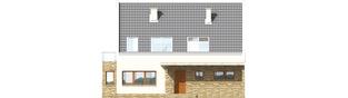 Projekt domu Gerda - elewacja frontowa