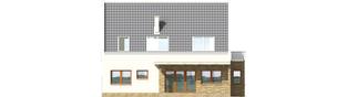 Projekt domu Gerda - elewacja lewa