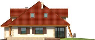 Diuna II G2 - Projekt domu Diuna G2 (lukarna) - elewacja prawa