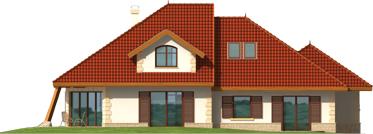 Diuna II G2 - Projekt domu Diuna G2 (lukarna) - elewacja lewa