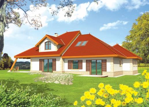 Mājas projekts - Diuna (dekoratīvais jumta logs)