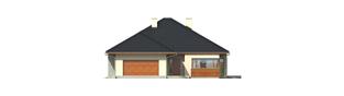 Projekt domu Megan G2 - elewacja frontowa