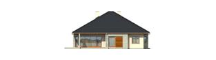 Projekt domu Megan G2 - elewacja tylna