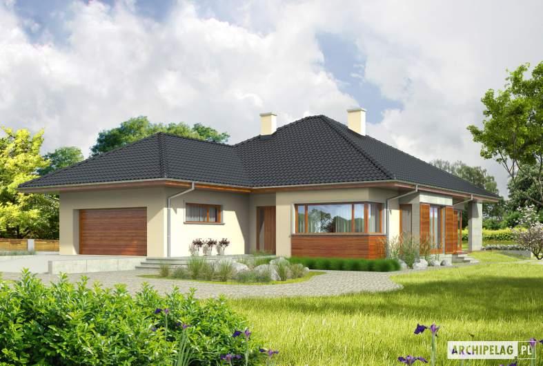 Projekt domu Megan G2 - wizualizacja frontowa