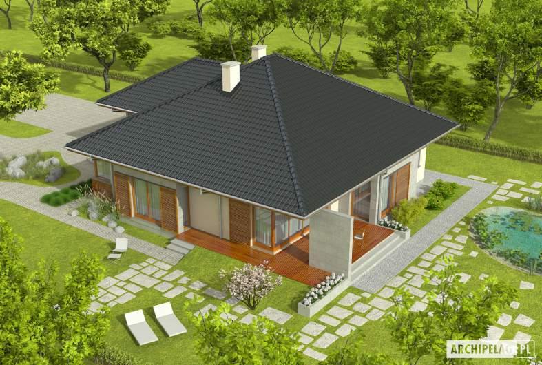 Projekt domu Megan G2 - widok z góry