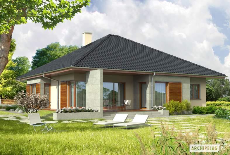 Projekt domu Megan G2 - wizualizacja ogrodowa