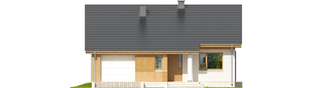 Projekt domu Rafael G1 (30 stopni) - elewacja frontowa