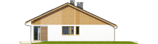 Projekt domu Rafael G1 (30 stopni) - elewacja lewa