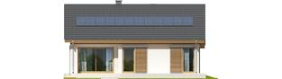 Projekt domu Rafael G1 (30 stopni) - elewacja tylna