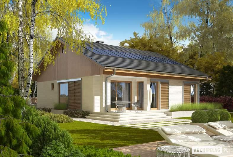 Projekt domu Rafael G1 (30 stopni) - wizualizacja ogrodowa