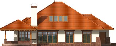 Severina G2 - Projekty domów ARCHIPELAG - Seweryna G2 - elewacja tylna