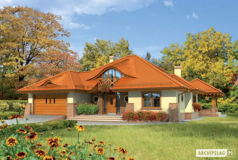 Projekt domu Seweryna G2 - Projekty domów ARCHIPELAG - Seweryna G2 - wizualizacja frontowa