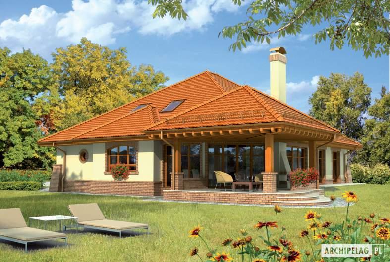 Projekt domu Seweryna G2 - Projekty domów ARCHIPELAG - Seweryna G2 - wizualizacja ogrodowa
