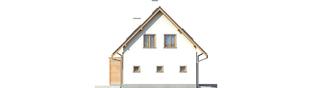 Projekt domu Ben II G1 (z piwnicą) - elewacja lewa
