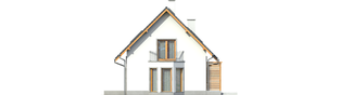Projekt domu Ben II G1 (z piwnicą) - elewacja prawa
