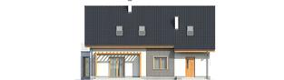 Projekt domu Ben II G1 (z piwnicą) - elewacja tylna