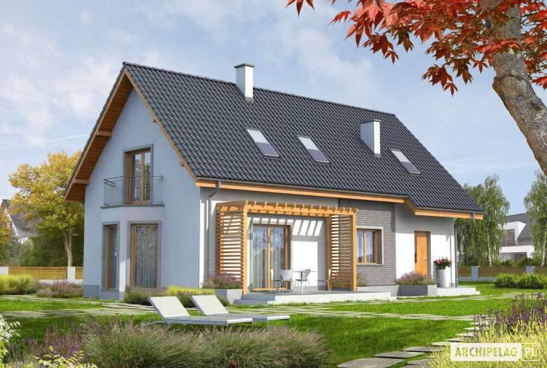 Projekt domu Ben II G1 (z piwnicą) - wizualizacja ogrodowa