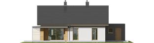 Projekt domu Iwo G1 - elewacja tylna