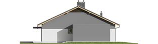 Projekt domu Iwo G1 - elewacja lewa