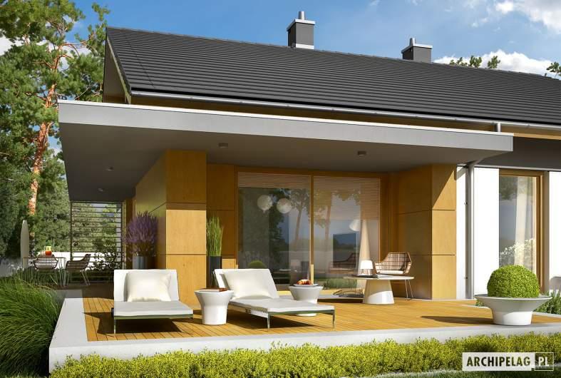 Projekt domu Iwo G1 - wizualizacja ogrodowa detal