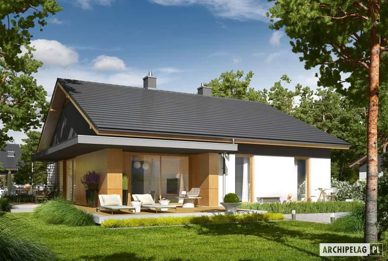 Projekt domu Iwo G1 - wizualizacja ogrodowa