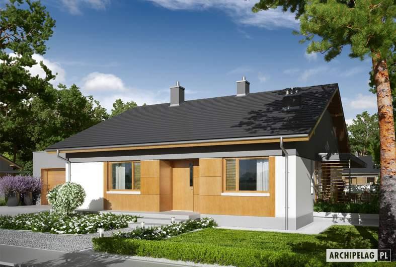 Projekt domu Iwo G1 - wizualizacja frontowa
