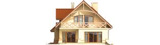 Projekt domu Wioletta G1 - elewacja tylna