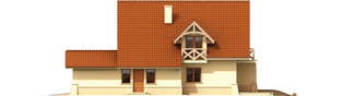 Projekt domu Wioletta G1 - elewacja prawa