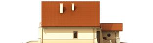 Projekt domu Wioletta G1 - elewacja lewa