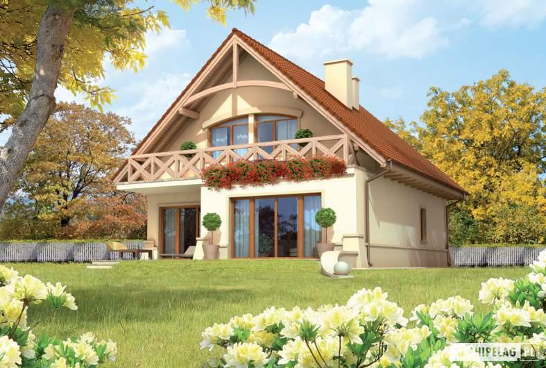 Projekt domu Wioletta G1 - wizualizacja ogrodowa