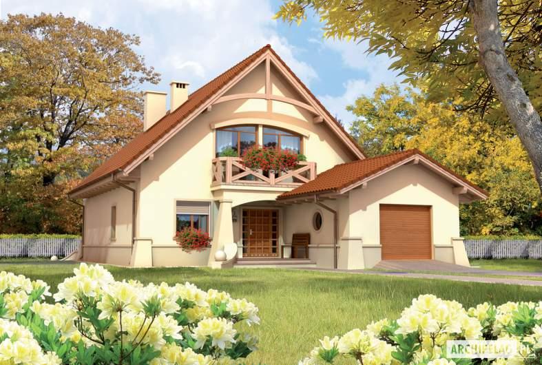 Projekt domu Wioletta G1 - wizualizacja frontowa