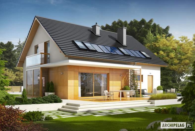 Projekt domu Pablo II G1 - wizualizacja ogrodowa