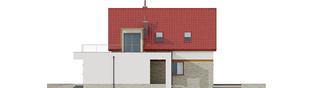 Projekt domu E13 III G1 ECONOMIC - elewacja prawa