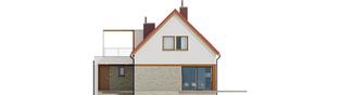 Projekt domu E13 III G1 ECONOMIC - elewacja tylna